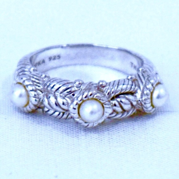 53cb1776d Judith Ripka Jewelry - JUDITH RIPKA~triple pearl cable band~RING~STERLING